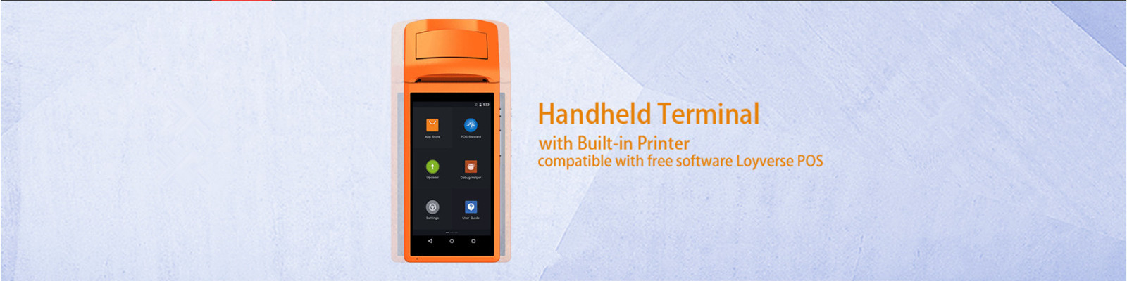 5.5 Inch Touch Screen display Handheld Terminal 3G Android Mini Pos Machine with Bluetooth Wifi Thermal Mini Pos Printer