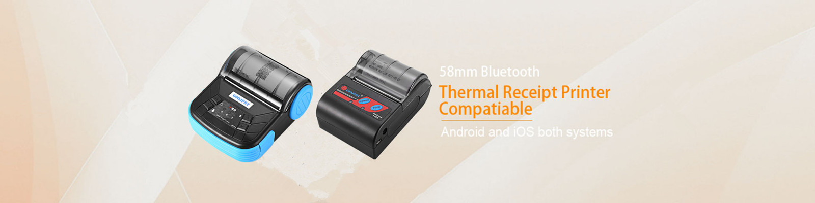 Bluetooth Interface Type thermal handheld 58 mm low cost mini printer