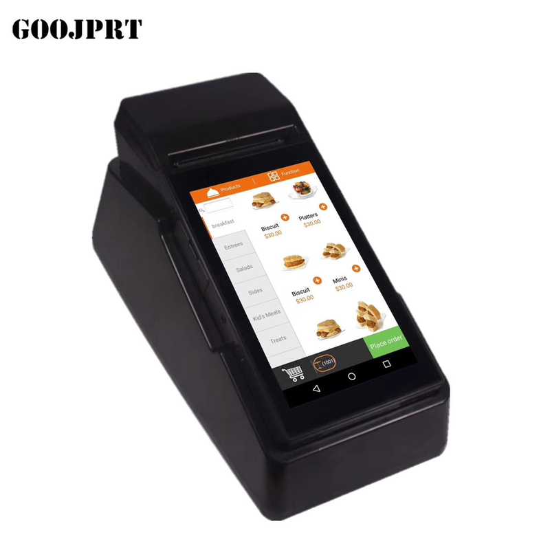 80mm Handheld Portable Pos Terminal barcode scanner Restaurant thermal printer wireless bluetooth wifi Android5.1 PD