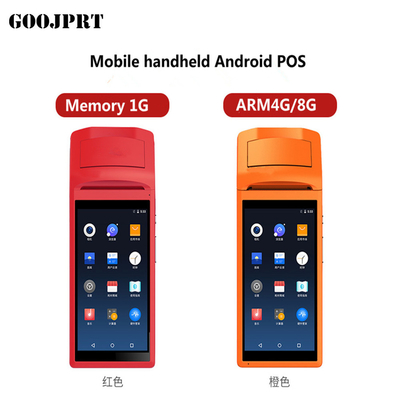 Android 5.1 Mini Pos thermal printer Barcode Scanner Handheld POS Terminal wireless bluetooth wifi Android PDA 3G Distri