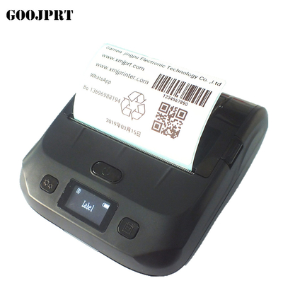 Portable 80mm thermal barcode  printer bluetooth label sticker printer