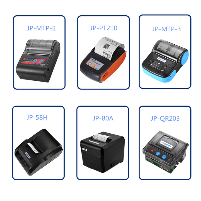 Printer Portable Bluetooth 4.0 Printer Photo Thermal Printer Phone Wireless Connection Printer 1200mAh Battery